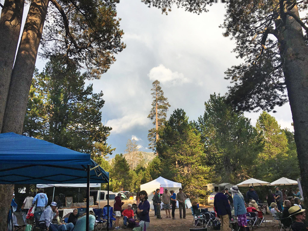 Food, drinks and crafts for sale at Hermitfest